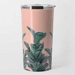 Rubber trees in group with beige pink Travel Mug