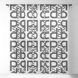 Initials - SP Sheer Curtain