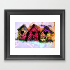 Baby Birdhouses Framed Art Print