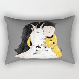 Capricia with Goats Rectangular Pillow