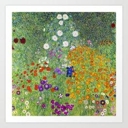 Flower Garden - Gustav Klimt Art Print