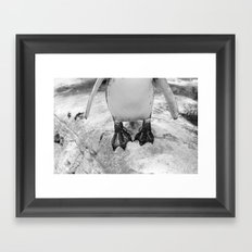 Awkward Penguin Framed Art Print