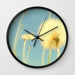 Dandelions #3 Wall Clock