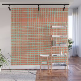 Left - Orange and green Wall Mural