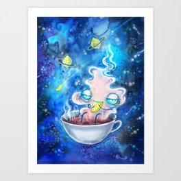 tea and the lemon universe Art Print