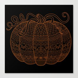 Color Me Pumpkin - Orange Canvas Print