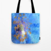 magic the gathering Tote Bags featuring Gathering by Paul Kimble