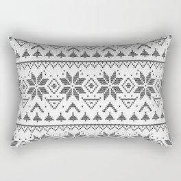 Knitted Scandinavian pattern Rectangular Pillow