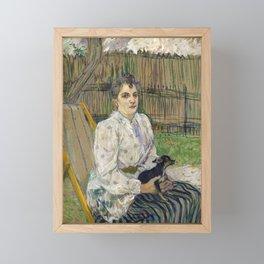 Lady with a Dog Framed Mini Art Print
