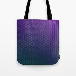 Gradient cube pattern cold Tote Bag