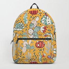 Succulents in yellow desert Backpack