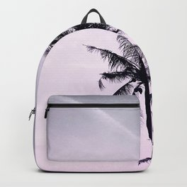 Palms on the Beach - Ultra violet, pink, purple and black Backpack