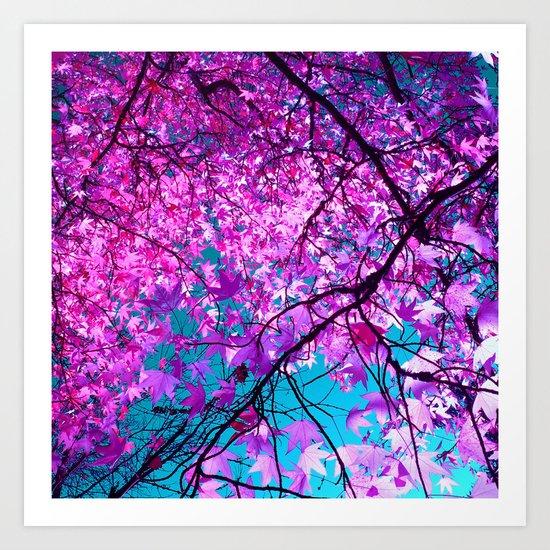violet tree IV Art Print