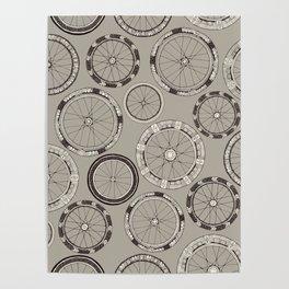 bike wheels stone Poster