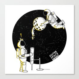 Mining in Space Canvas Print