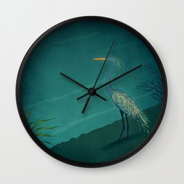 Camouflage: The Crane Wall Clock
