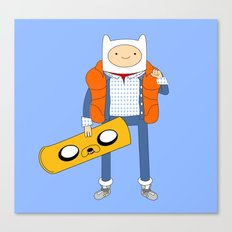 Marty McFinn & Jake the Hoverboard Canvas Print
