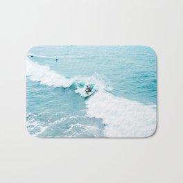 Wave Surfer Turquoise Bath Mat