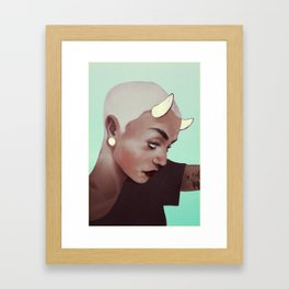 horns and plugs Framed Art Print