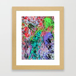 mother venus and child in ocean grotto Framed Art Print