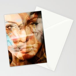 faces of Angelina Jolie Stationery Cards