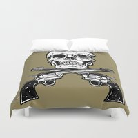 kindle Duvet Covers featuring 113 by ALLSKULL.NET