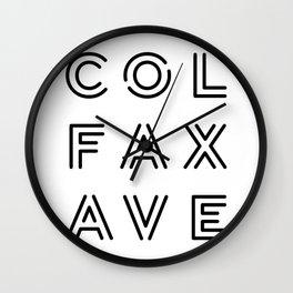 Colfax Ave Black Logo Wall Clock