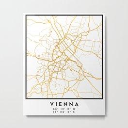 VIENNA AUSTRIA CITY STREET MAP ART Metal Print