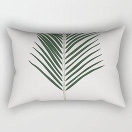 Areca Palm Branch Illustration Rectangular Pillow