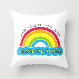 The Introverts Plea | Leave Me Alone Throw Pillow
