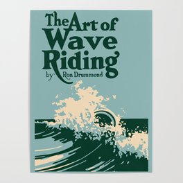 The Art of Wave Riding 1931, First Surfing Book Artwork, for Wall Art, Prints, Posters, Tshirts, Men, Women, Kids Poster