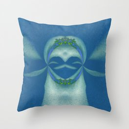 Peaceful Warrior Throw Pillow