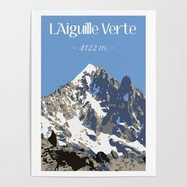 L'Aiguille Verte - France Poster