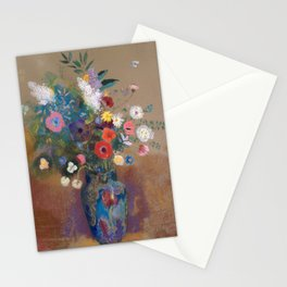 Bouquet of Flowers. Odilon Redon French, Bordeaux Stationery Cards