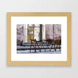 Table and Chairs - Catania - Sicily Framed Art Print