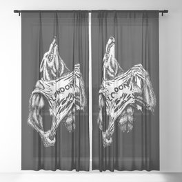American Werewolf in London Sheer Curtain