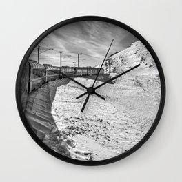 Locomotive. Wall Clock