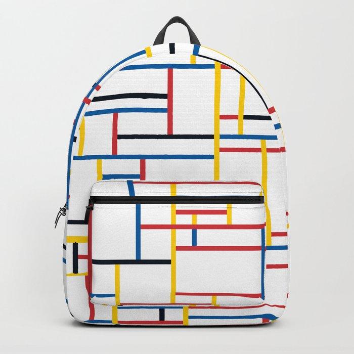 GRID w/white Backpack