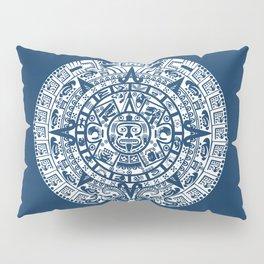 Mayan Calendar // Navy Blue Pillow Sham