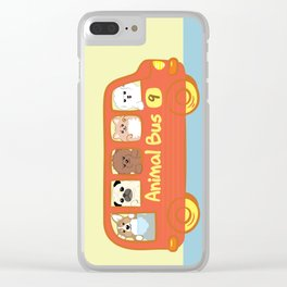 Animal bus no.9 Clear iPhone Case