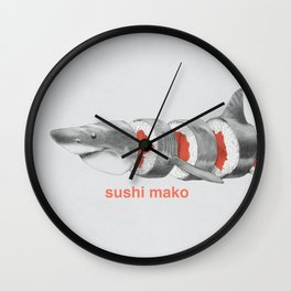 Sushi Mako Wall Clock