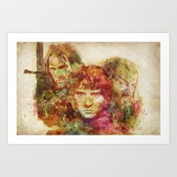 lord of the rings Art Prints featuring The Lord of the Rings by Miriam Soriano
