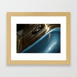 Vintage Juke Box Blue  Framed Art Print