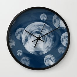 RAINING MIDNIGHT HEARTS  Wall Clock