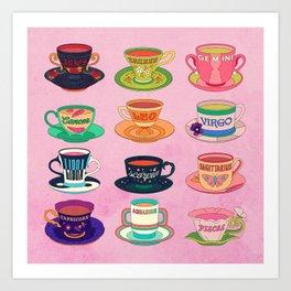 Zodiac Tea Art Print