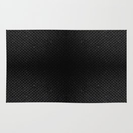 Black flax cloth texture abstract Rug
