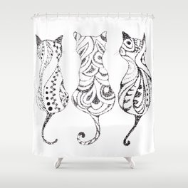 Trio of Cats Shower Curtain