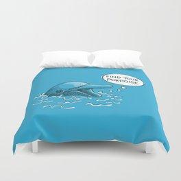 Find Your Porpoise Duvet Cover