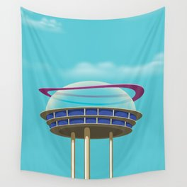 Sci-Fi building Wall Tapestry