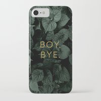 iPhone Cases featuring Boy, Bye - Vertical by Tina Crespo